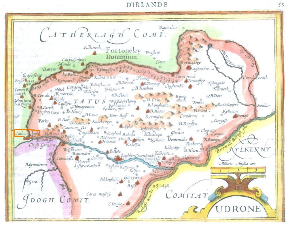 Carlow On Map Of Ireland.A Collection Of Maps And Drawings Of County Carlow