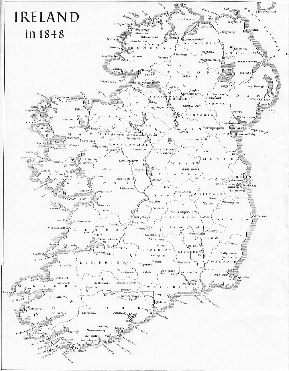 Map Of Ireland Black And White.Map Of Ireland